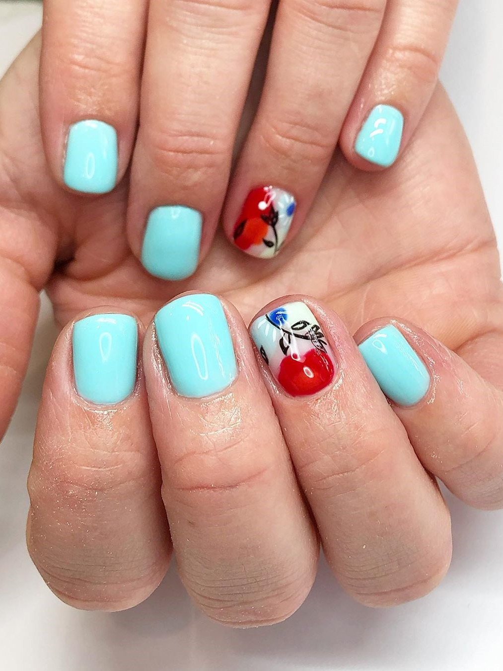 Summer nail ideas: we have put together 50 of the best summer nails. There is something for everyone from light and bright to bold to sparkling glitter. #summernailideas #summernails #nails2020trends