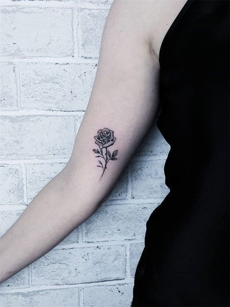 Rose tattoo design for women: we have put together 50+ of the best rose tattoos. I hope everyone can choose their favorite tattoo and enjoy the process. #rosetattoodesign#tattooideas #tattooideasfemale